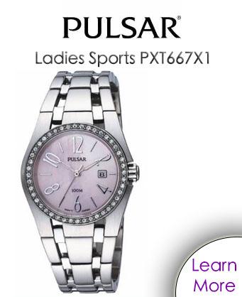 Pulsar Ladies Sports PXT667X1 Watch
