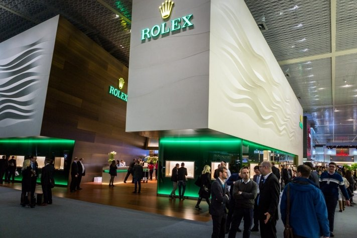 rolex watch booth baselworld