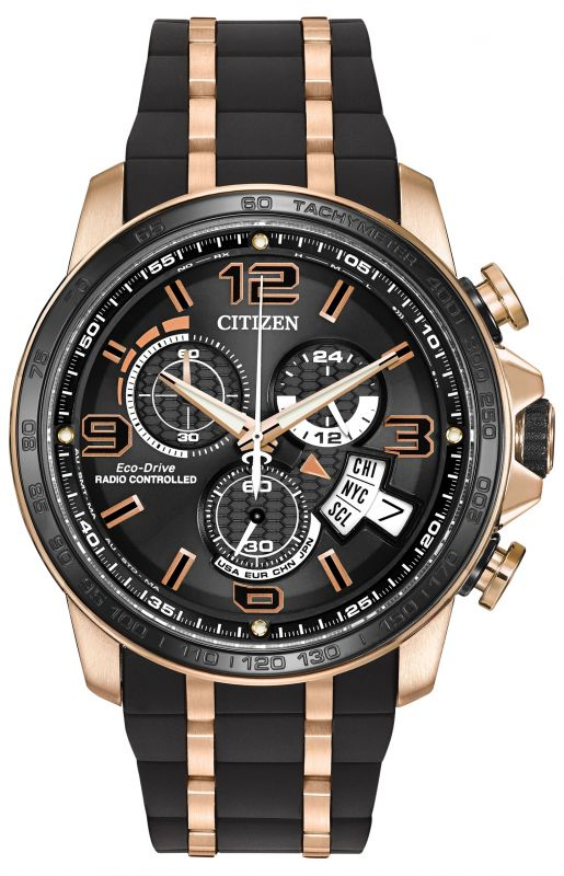CITIZEN LIMITED EDITION CHRONO TIME A-T RUBBER AND GOLD