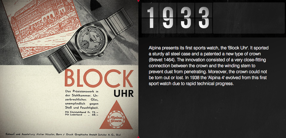 Alpina Sports Watch Blok Uhr