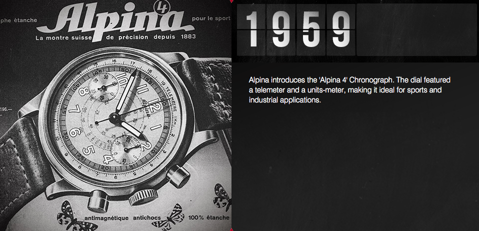 Alpina watches Alpina 4 chronograph watch