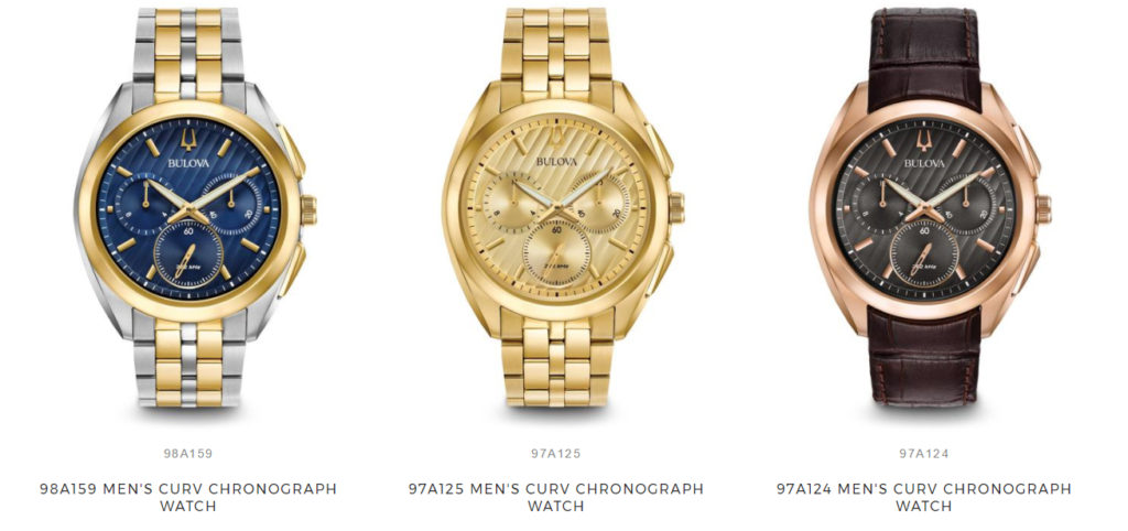 bulova-curv watches collection