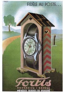 fortis watch advertisment