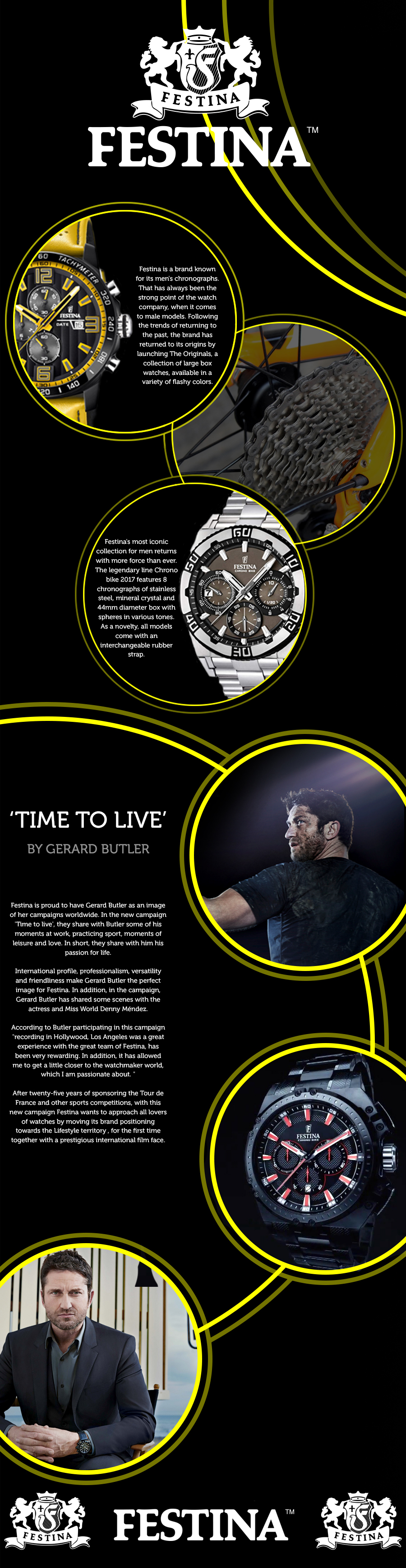 festina watches info graphic