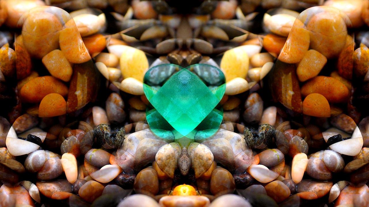 Emeralds stones