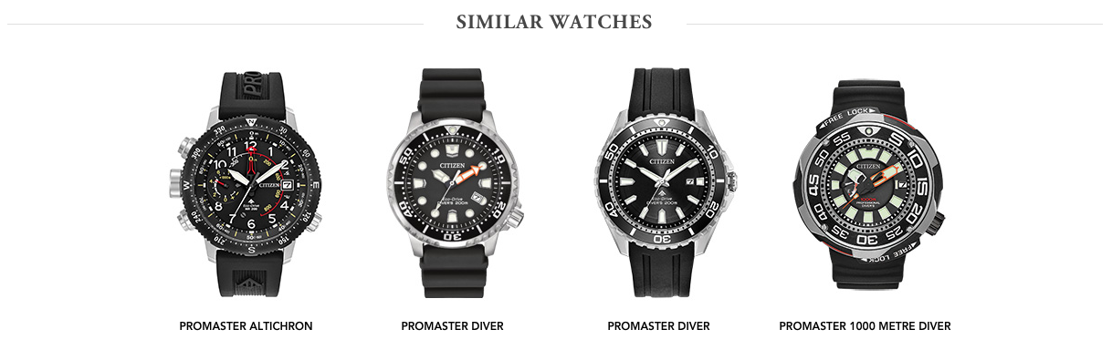 Citizen Promaster Diver similar watches