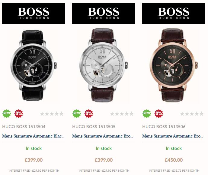 hugo boss black signature collection