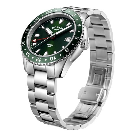 Rotary Henley Green Stainless Steel Quartz Watch