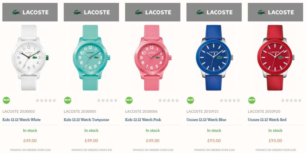 lacoste 12-12 watch collection