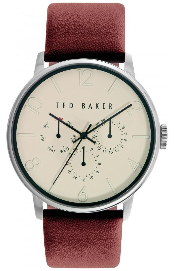 ted baker unisex day display leather strap