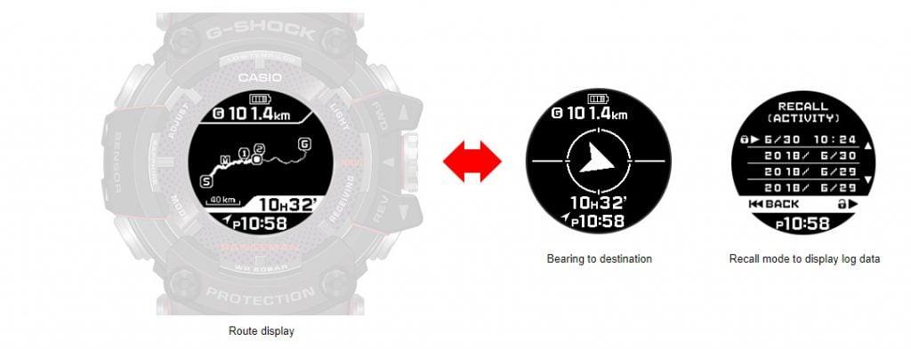 Casio G-Shock Rangeman Navigate and Log