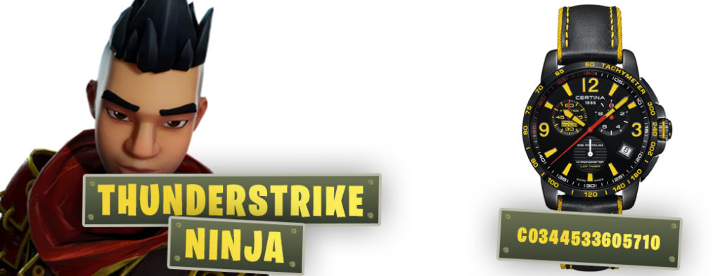fortnite inspired watches thunderstrike ninja