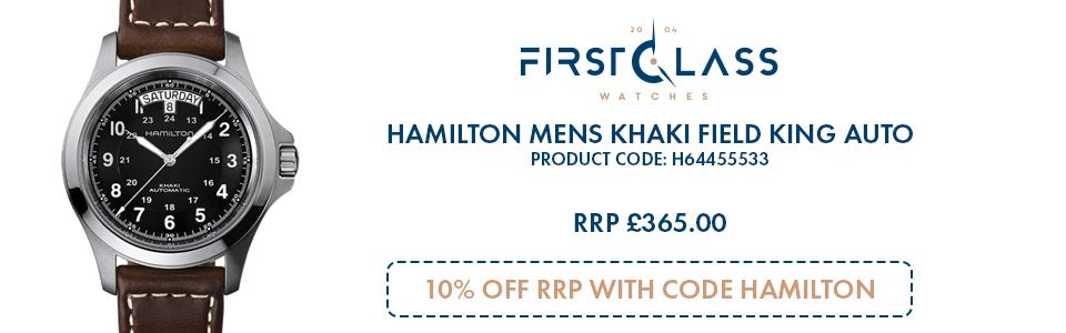 Hamilton Mens Khaki Field King Auto
