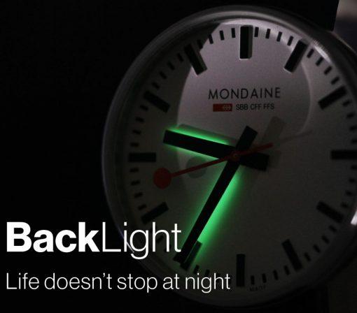 Mondaine backlight