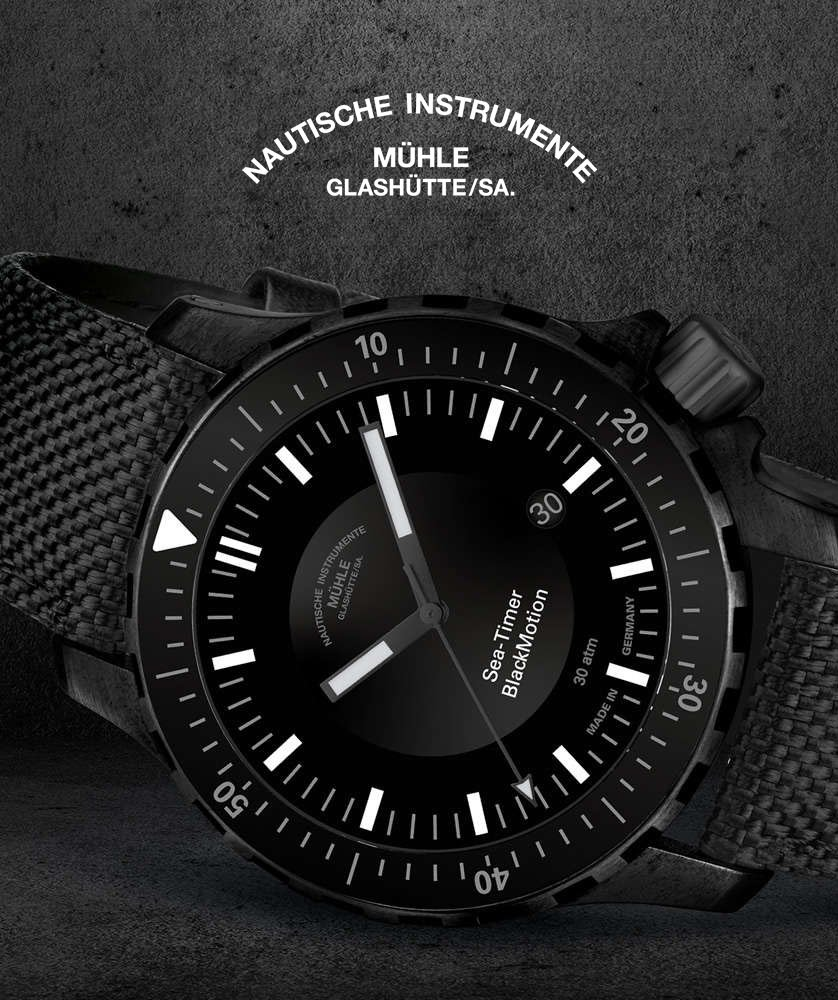 Muhle Glashutte Sea-Timer BlackMotion