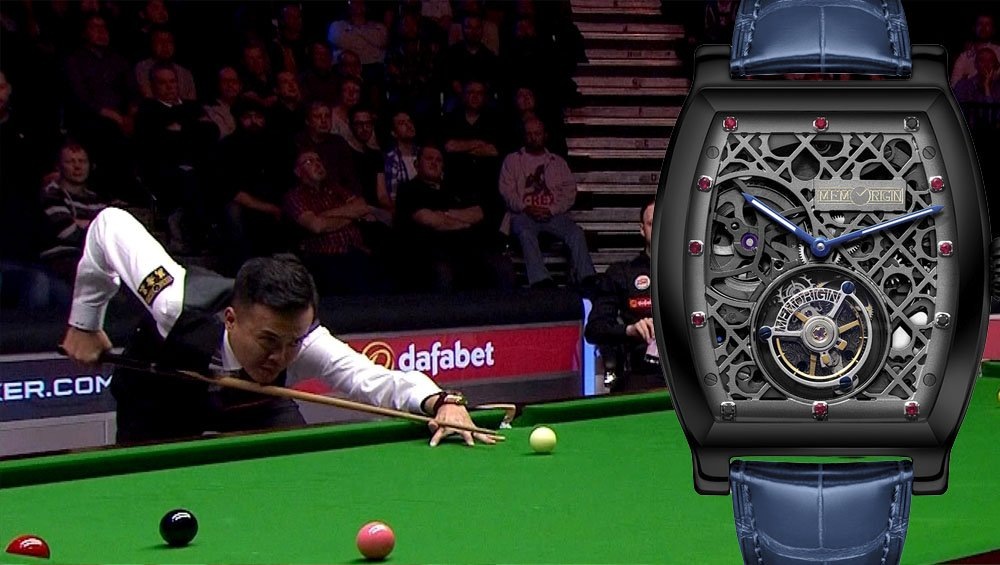 Marco fu watches snooker