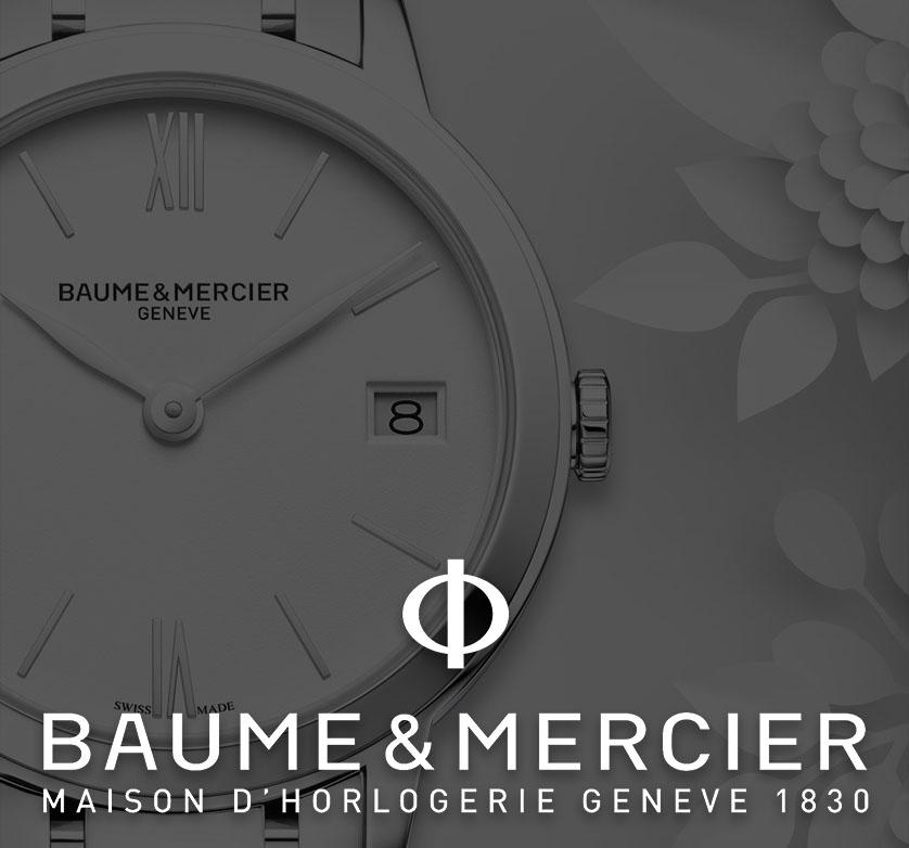 Baume and Mercier watches header