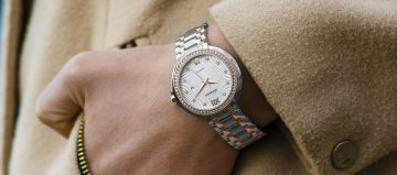two-tone watch