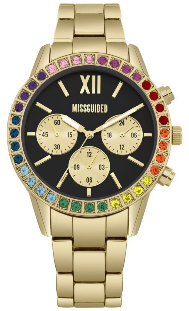 rainbow bezel watch