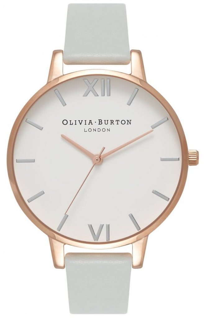 grey and rose gold vegan watch
