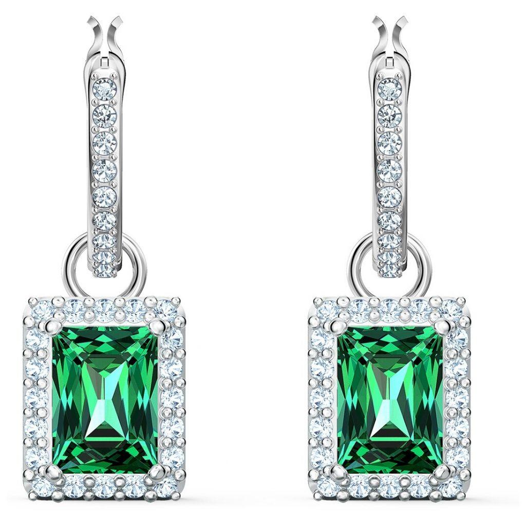 radiant cut green crystal