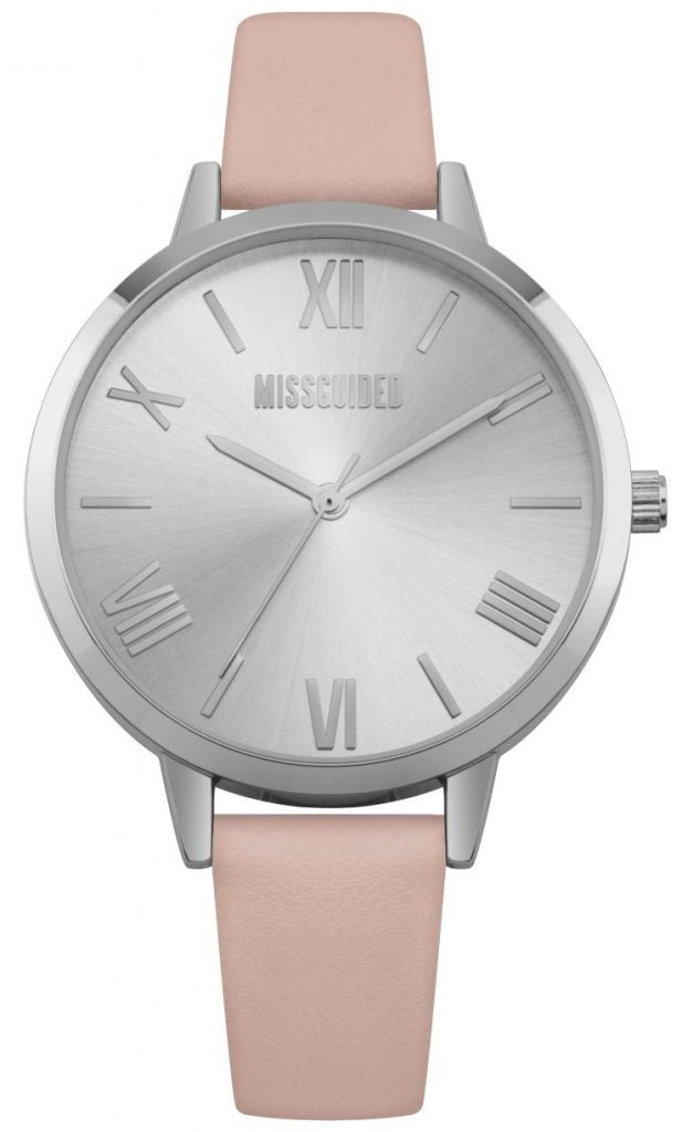 missguided silver coloured minimalist dial
