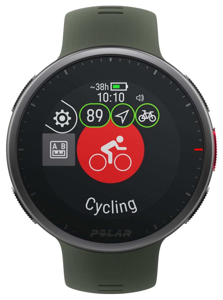 green strap multisport watch
