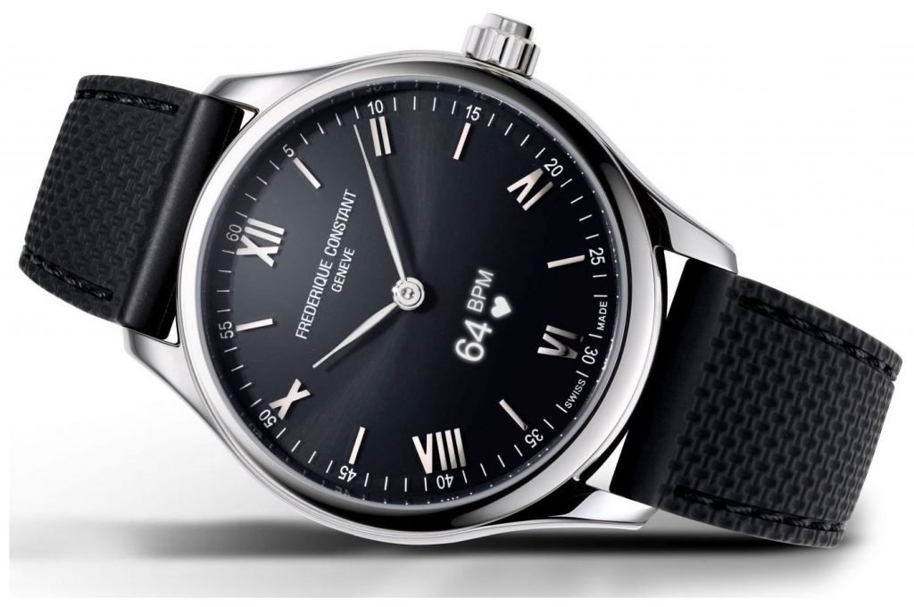black dial with rubber strap