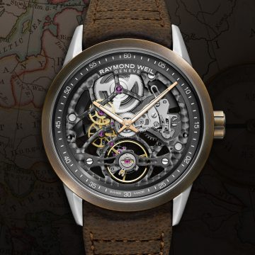 Raymond Weil Bronze Freelancer Skeleton Watch