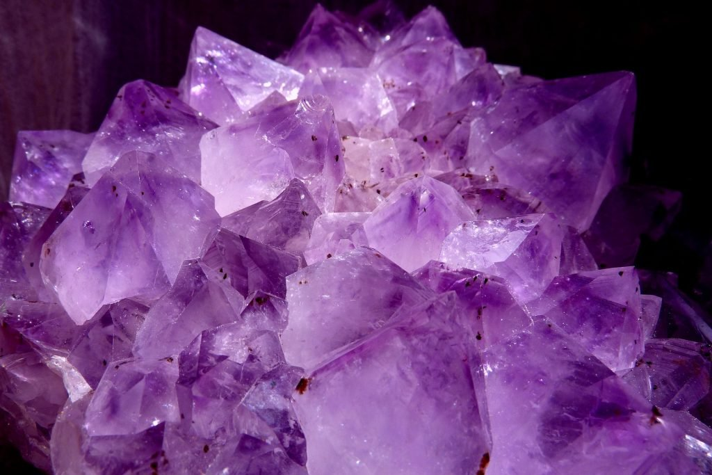 amethyst with inclusions
