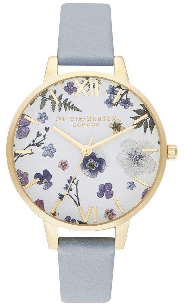violet flowers dial