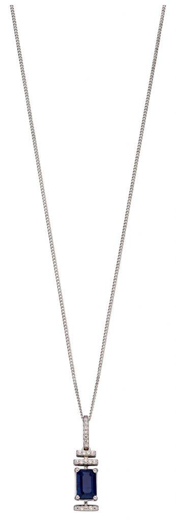 sapphire deco necklace