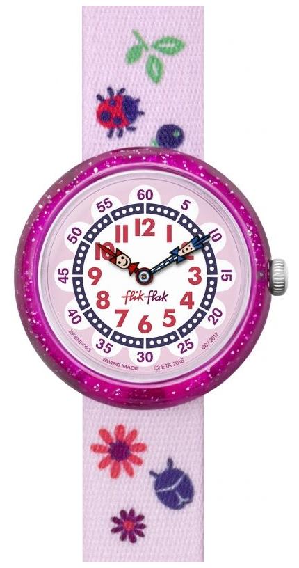 pink autumn colours flik flak watch