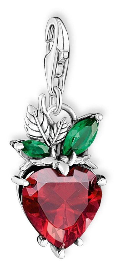 strawberry charm pendant
