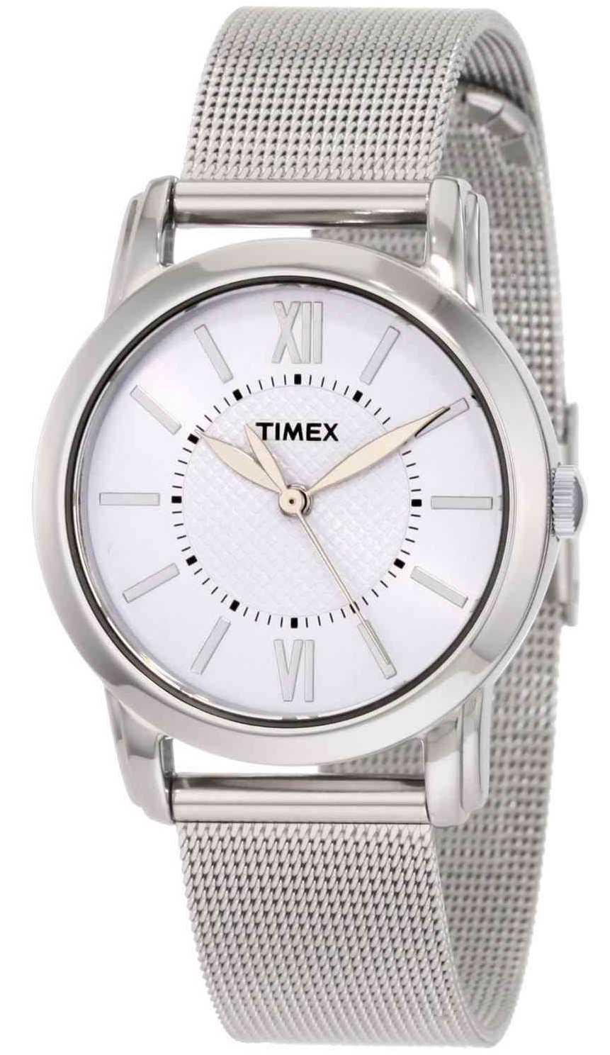 Timex Womens Silver Dial Mesh Bracelet  Watch T2N679