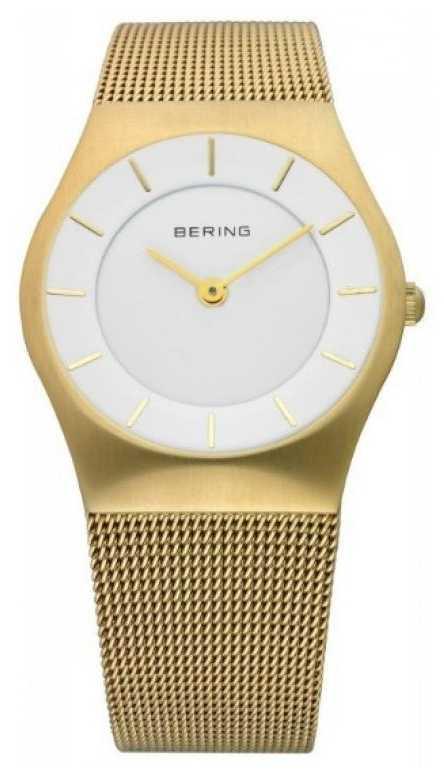 Bering Womens Watch Gold Mesh 11930-334