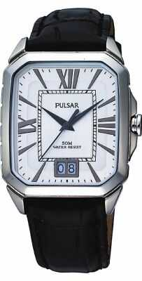 Pulsar Womens Black Leather Strap Watch PQ5027X1