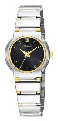 Pulsar Womens Black Dial Bracelet Watch PTC419X1