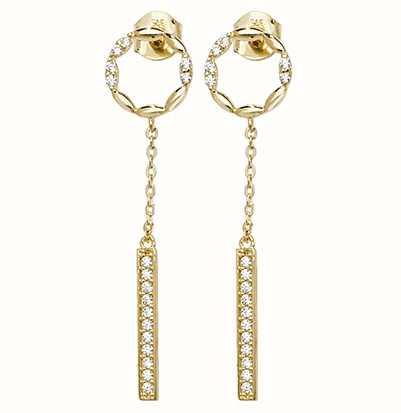8c7abb17d Treasure House 9k Yellow Gold Cubic Zirconia Drop Earrings ER1091 ...