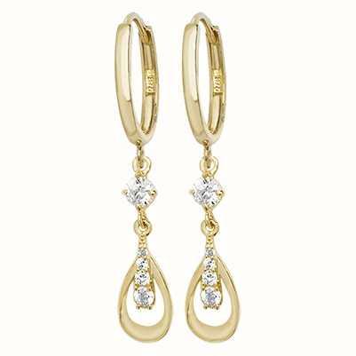 0a8a9c17b Treasure House 9k Yellow Gold Cubic Zirconia Drop Earrings ER1096 ...