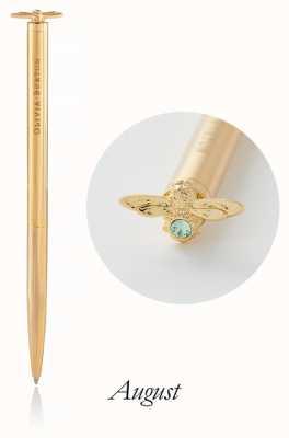 Olivia Burton | Celebration Stones Bee | Gold | Peridot | Pen | OBACS36