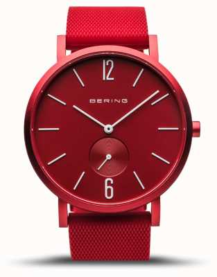 Bering | True Aurora | Red Rubber Strap | Red Dial | 16940-599