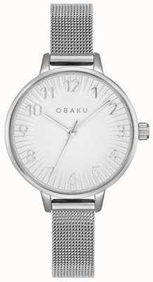 Obaku | Women's Syren Steel | Silver Mesh Bracelet | Silver Dial | V237LXCIMC