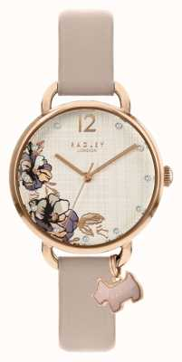 Radley | Women's Pink Leather Strap | Floral Print Dial | RY2982