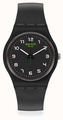 Swatch MASA | New Gent |  Black Plastic Strap | Black Dial SO28B100