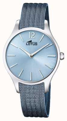 Lotus Women's Blue Steel Mesh Bracelet   Blue Dial L18749/2