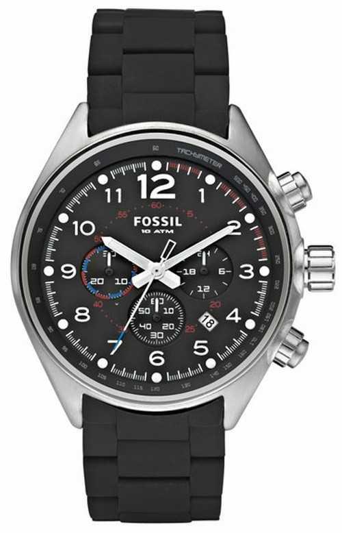 Fossil Mens Black Flight Chronograph CH2697