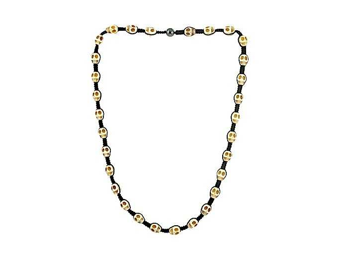 Tresor Paris Sion 0 30 White Skull Necklace 016529