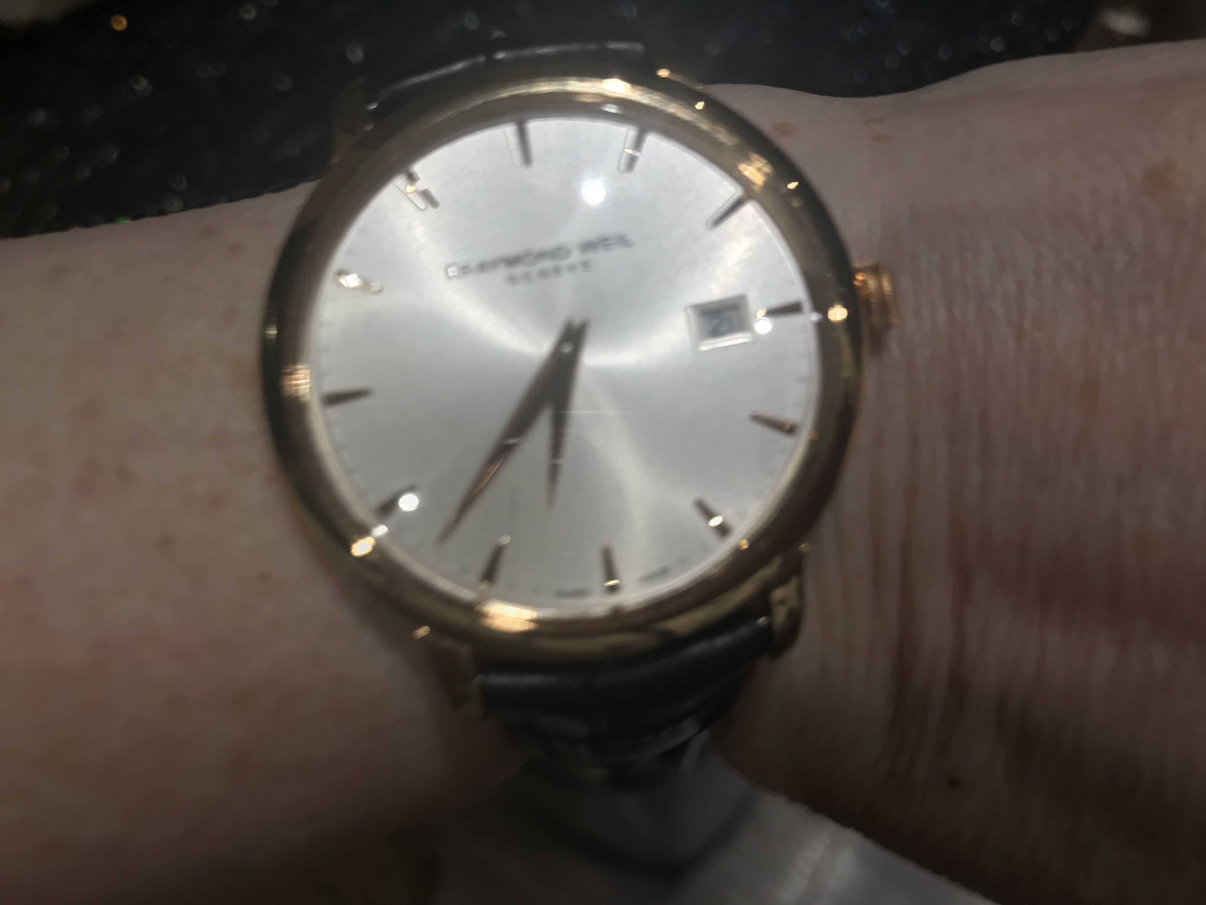 Customer picture of Raymond Weil Mens Toccata Silver Leather 5488-PC5-65001