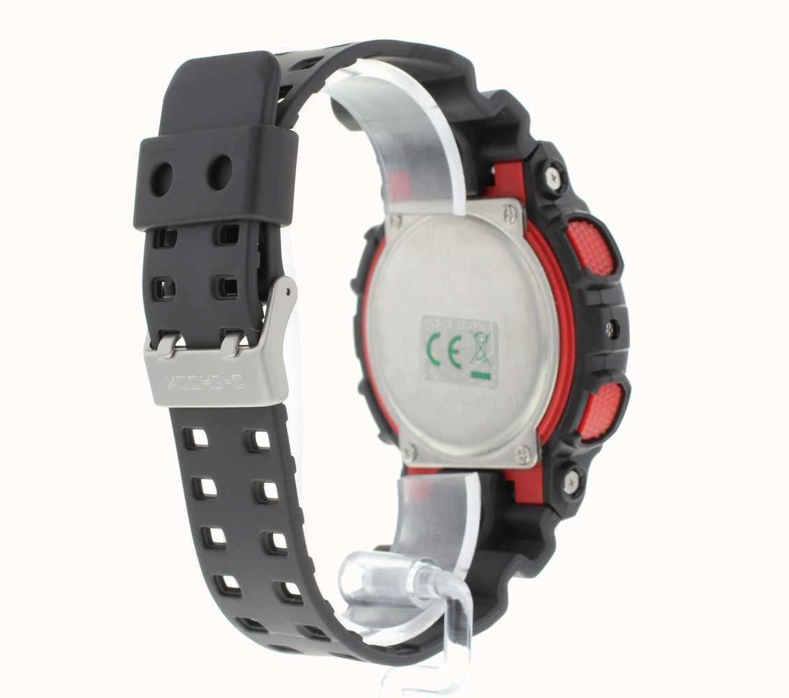 378259cea30 Casio G-Shock Chronograph Alarm Black Red GA-100-1A4ER - First Class